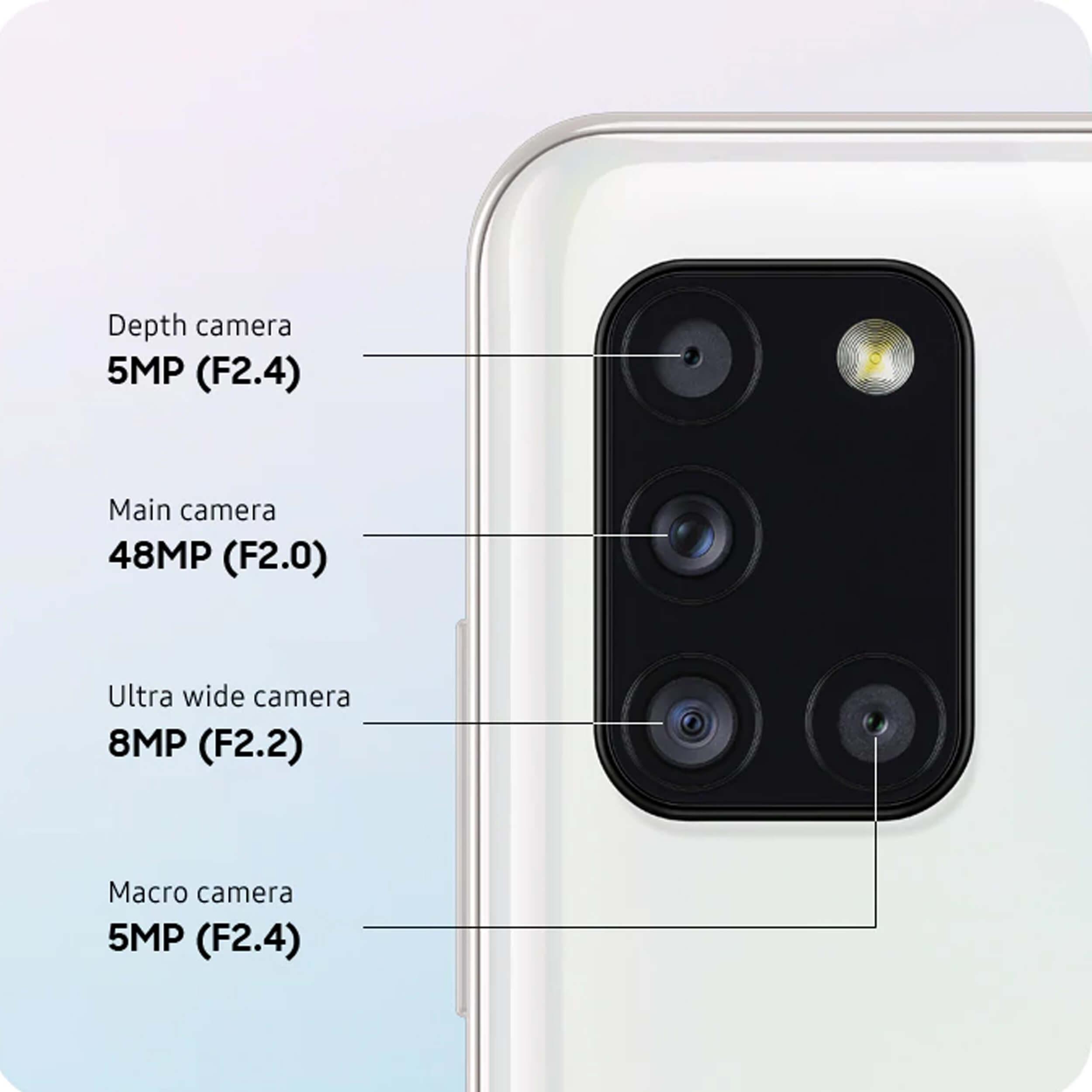 اطلاعات دوربین گوشی موبایل سامسونگ  Galaxy A31 دوسیم کارت 128 گیگابایت